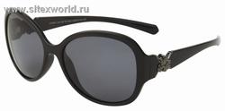 Поляризационные женские солнцезащитные очки с темными линзами в черной оправе 981B