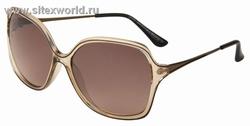 Квадратные очки женские солнцезащитные в бежевой оправе 972