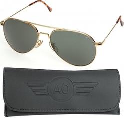 Очки пилота AO® General® Polarized Sunglasses 58mm - Gold Frame