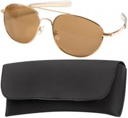 Очки пилота Pilots Sunglasses 58mm - Gold Frame & Brown Lenses