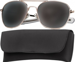 Очки пилота Pilots Sunglasses 52mm - Gold Frame & Smoke Lenses