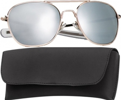 Очки пилота Pilots Sunglasses 52mm - Gold Frame & Mirror Lenses