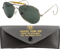 Очки пилота Aviator Sunglasses w/ Case - Green Lenses