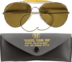 Очки пилота Aviator Sunglasses w/ Case - Brown Lenses