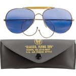 Очки пилота Aviator Sunglasses w/ Case - Blue Lenses